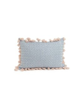 ADV Pink Tassels Blue Rectangle Pillow