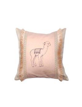 Un Pour Tous Pink Alpaca Pillow