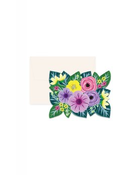 Paige and Willow Floral Die-Cut Greeting Card