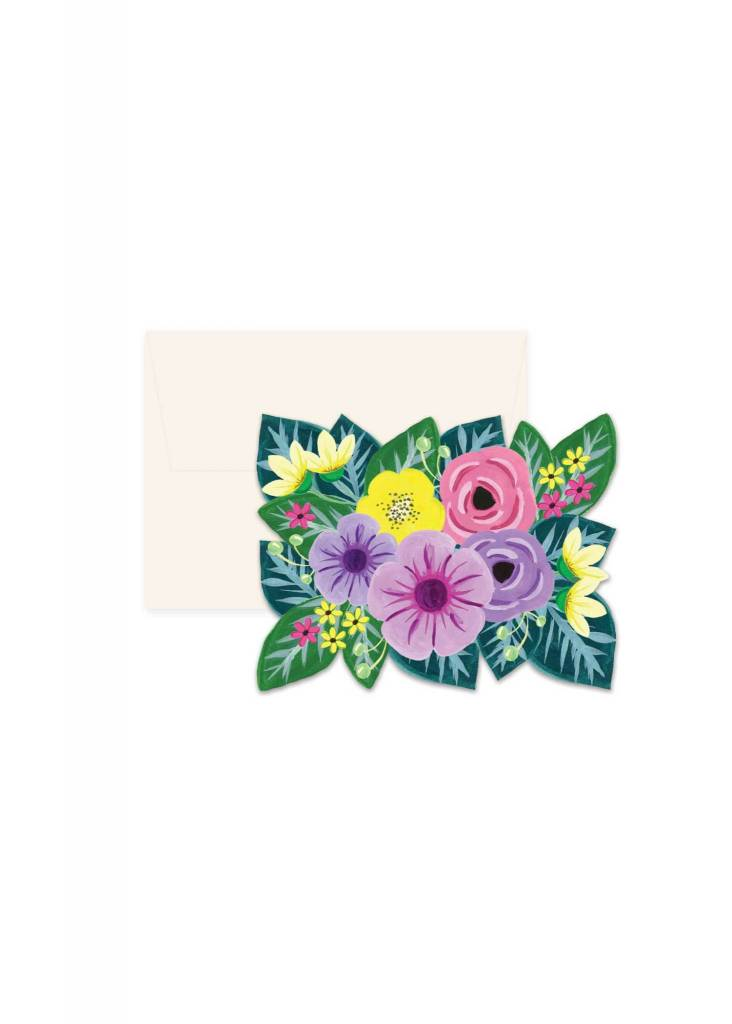 Floral die cut greeting card boutique vestibule boutique vestibule paige and willow floral die cut greeting card m4hsunfo