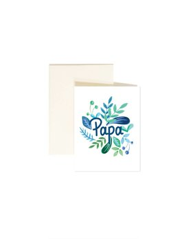 Paige and Willow Papa Greeting Card