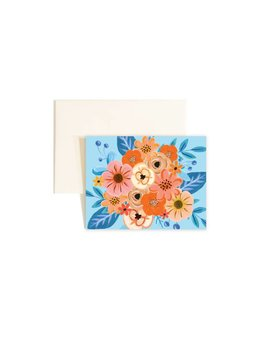 Paige and Willow Carte Fleurs & Bleus