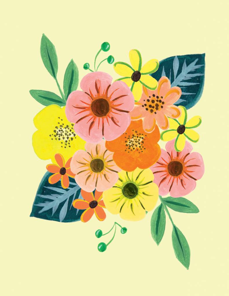 Paige and Willow Tropicales Flowers Greeting Card