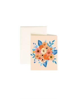 Paige and Willow Orange Flower Greeting Card