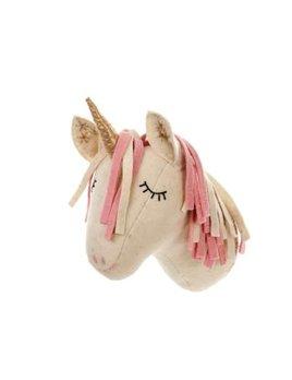 Indaba Sleepy Unicorn Felted Head