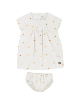 Carrément Beau Yellow Flowers Dress Set (Kid)