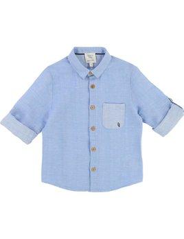 Carrément Beau Linen Blue Shirt