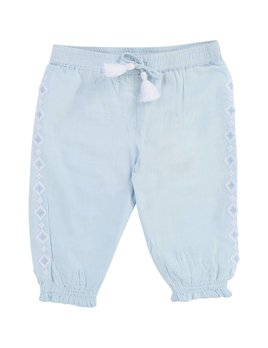 Carrément Beau Blue Embroidered Pants (Baby)
