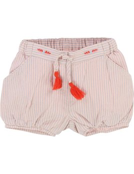 Carrément Beau Striped Pink Shorts (Baby)