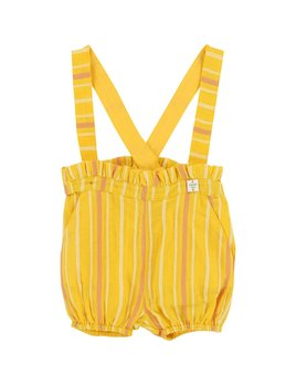 Carrément Beau Yellow Short with Suspenders