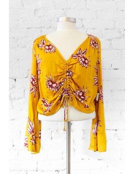 Somedays Lovin Yellow Floral Blouse