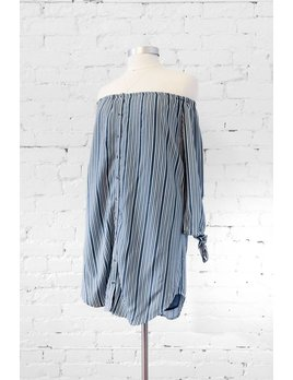 Gentle Fawn Blue Pinstripe Dress