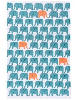 Danica/Now Blue Elephants Cloth