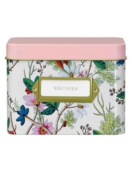 Wild&Wolf Floral Recipe Tin Box