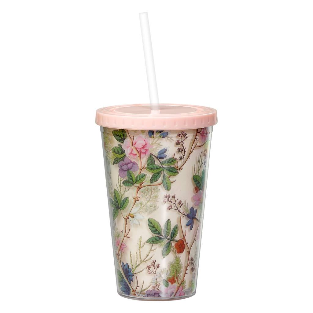 Wild&Wolf Floral Tumbler and Straw