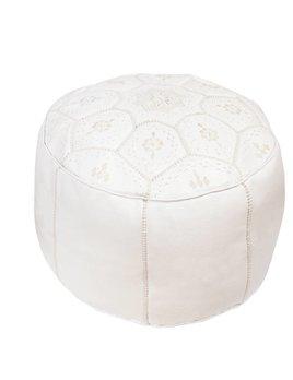 Pouf Blanc Classique