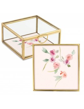 Fringe Studio Small Floral Glass Box