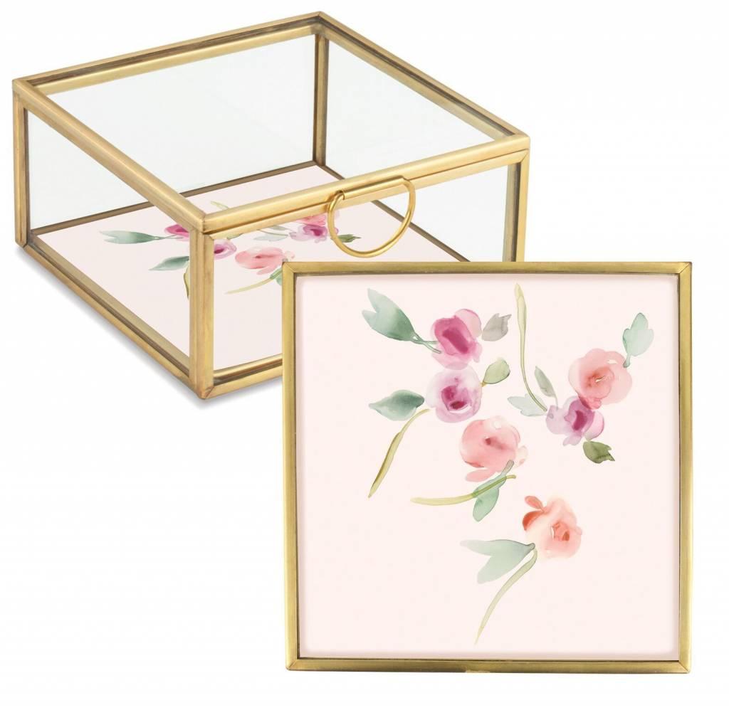 Fringe Studio Small Floral Glass Box
