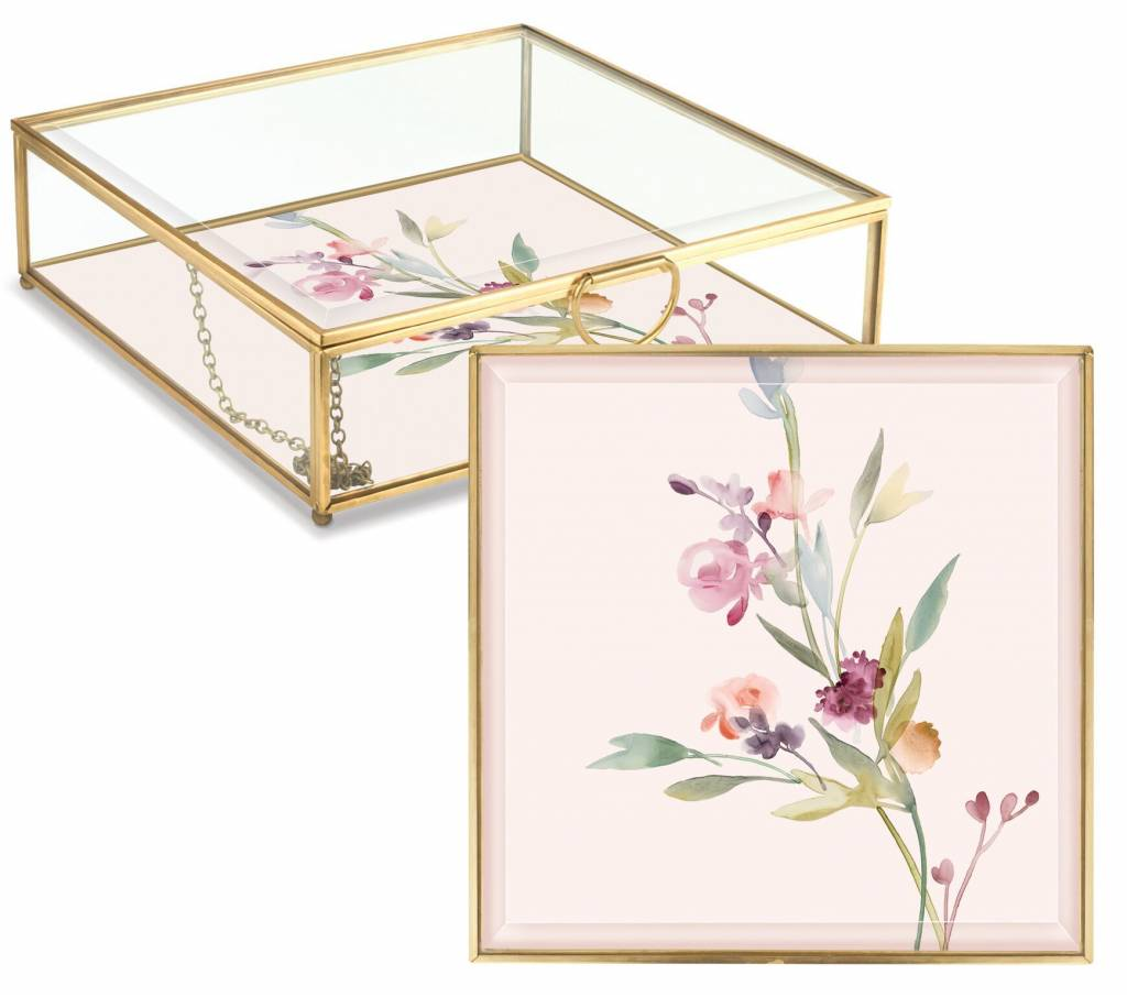 Fringe Studio Garland Floral Glass Box
