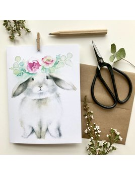 Katrinn Pelletier Illustration Brown Rabbit Greeting Card