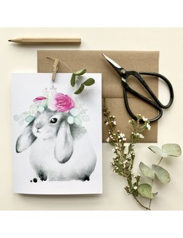 Katrinn Pelletier Illustration Aries Rabbit Greeting Card
