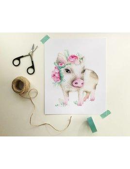 Katrinn Pelletier Illustration Affiche Petit Cochon