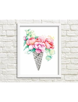 Katrinn Pelletier Illustration Bouquet Flowers Illustration
