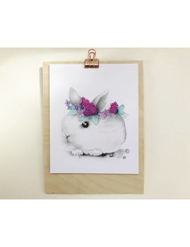 Katrinn Pelletier Illustration Rabbit Watercolor Illustration