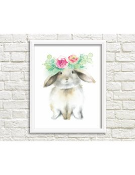 Katrinn Pelletier Illustration Brown Rabbit Illustration