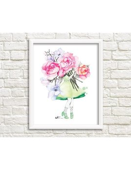 Katrinn Pelletier Illustration Peony and Magnolia Florist Illustration
