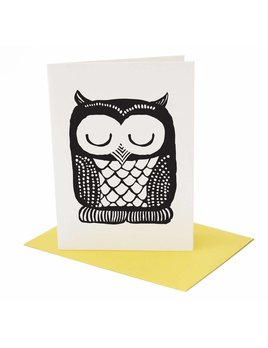 Wee Gallery Owl Greeting Card