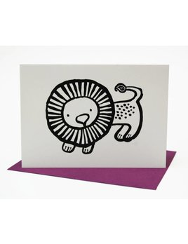 Wee Gallery Lion Greeting Card