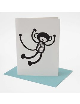 Wee Gallery Monkey Greeting Card