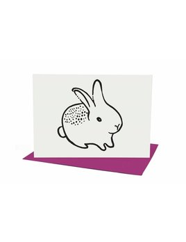 Wee Gallery Carte de Souhaits Lapin