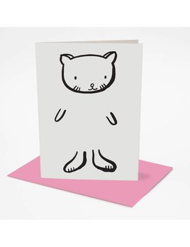 Wee Gallery Dress up Cat Greeting Card
