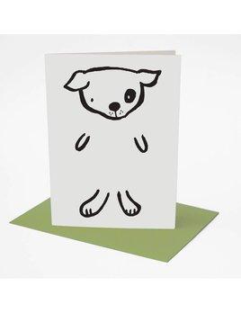 Wee Gallery Carte de Souhaits Chien à dessiner