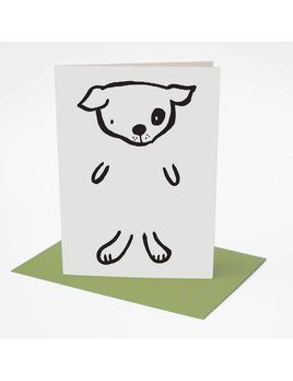 Wee Gallery Dress up Dog Greeting Card