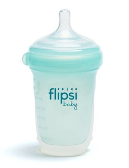 Baby-Vac Teal Flipsi Silicone Bottle