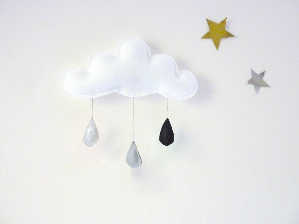 The Butter Flying Mobile Nuage Classique Gris