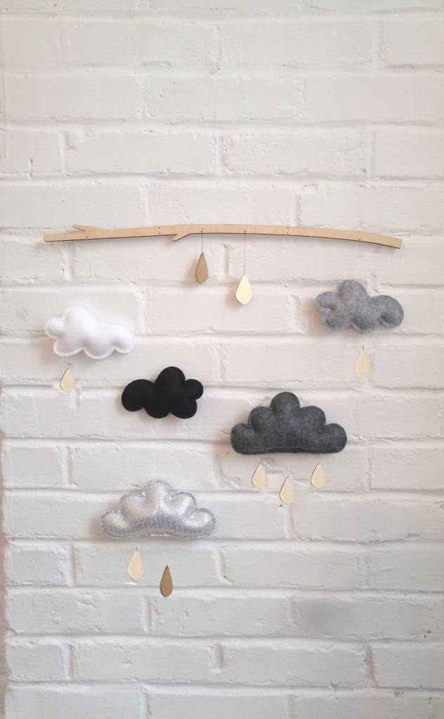 The Butter Flying Mobile Branche Gris