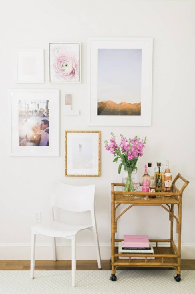 White walls ... far from boring