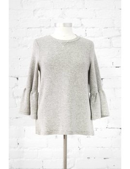French Connection Grey Ruffle Knit