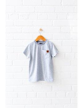Birdz T-Shirt Gris Minimaliste