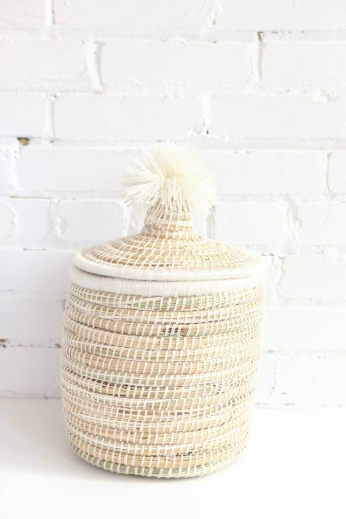 White Moroccan Basket