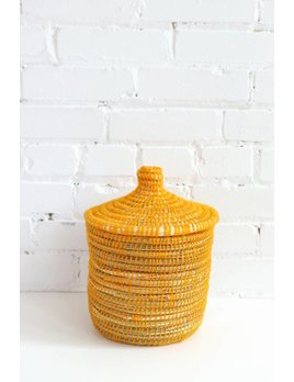 Yellow Moroccan Basket