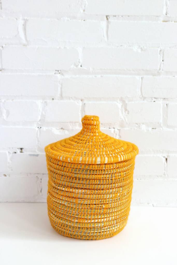 Yellow Moroccan Basket