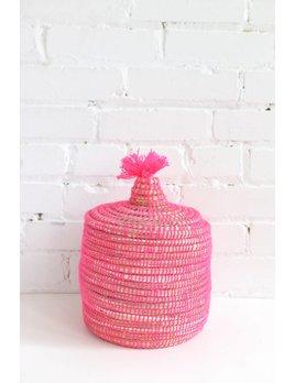 Pink Moroccan Basket