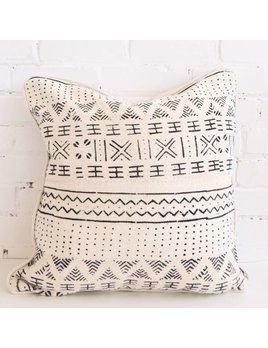 African Mudcloth Pattern Pillow