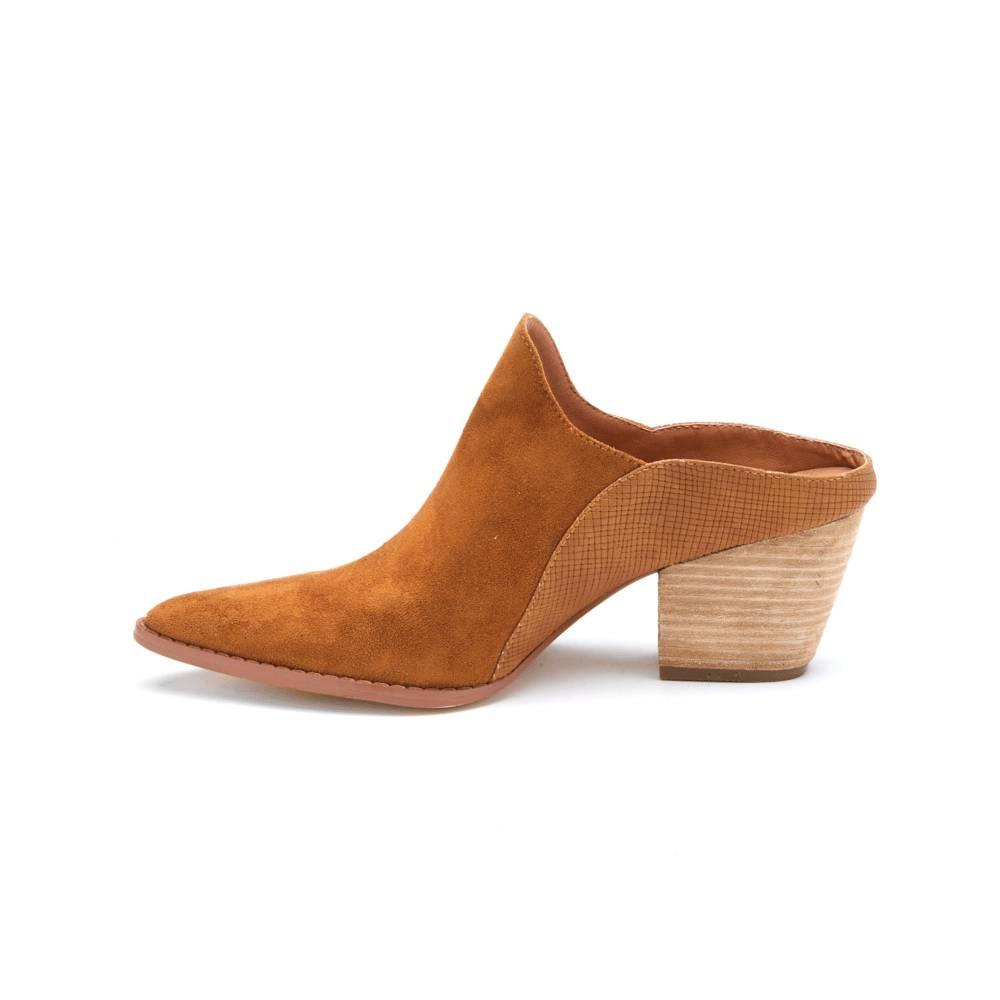 Matisse Tan Heeled Mules