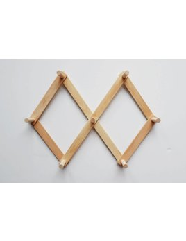 Minika Wooden Peg Rack - Size Choices